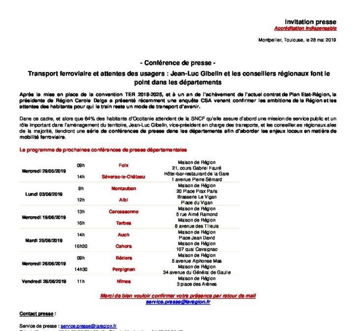 Convention Ter: des conférences de presse sur tous les territoires
