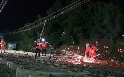 Violentes intempéries sur l'axe ferroviaire du littoral